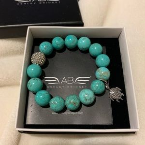 Ashely Bridget turquoise turtle beaded bracelet